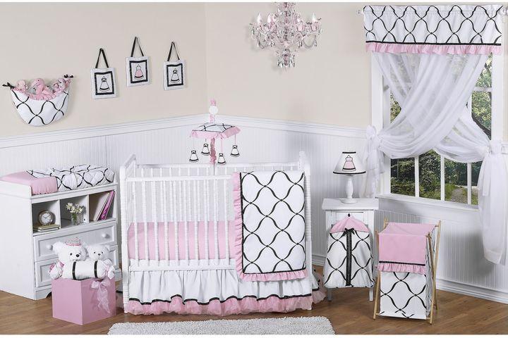 JoJo Designs Sweet Princess Crib Bedding Collection in Black/White/Pink