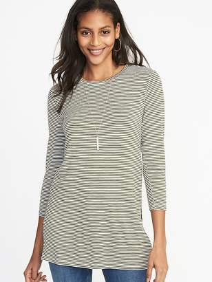 Old Navy Luxe Long & Lean Striped Tunic for Women
