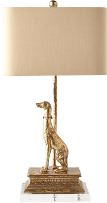 Horchow Right Regal Dog Table Lamp