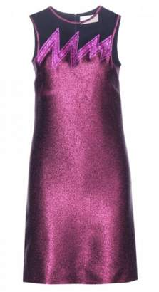 Christopher Kane Embellished Metallic Dress