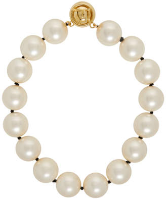 Fendi Pearl and Gold Choker Necklace