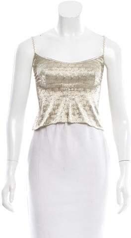 Chanel Embellished Crop Top