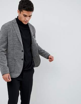 Selected Patch Pocket Blazer With Raw Edge Details In Slim Fit
