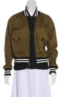 Veronica Beard Zip-Up Bomber Jacket