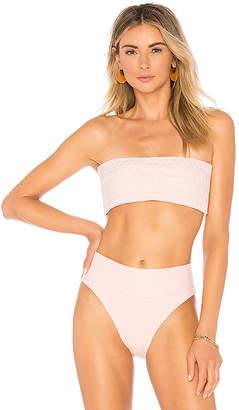 Peony Swimwear Smocked Bandeau Bikini Top