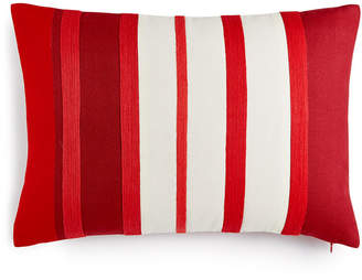 """Martha Stewart Collection CLOSEOUT! Rich Red Stripe 14"""" x 20"""" Decorative Pillow, Created for Macy's"""