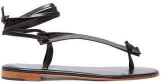 Martiniano Bibiana Ankle Tie Leather Sandals - Womens - Black