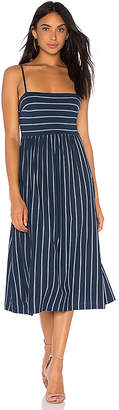 BCBGMAXAZRIA Twist Back Midi Dress