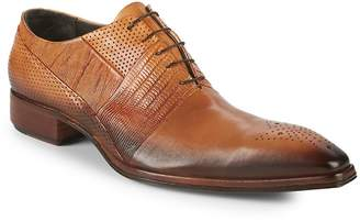 Jo Ghost Men's Textured Leather Oxfords