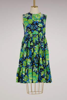 MSGM Printed flowers dress with ruffles