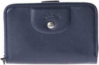Longchamp Compact Zip Around Wallet