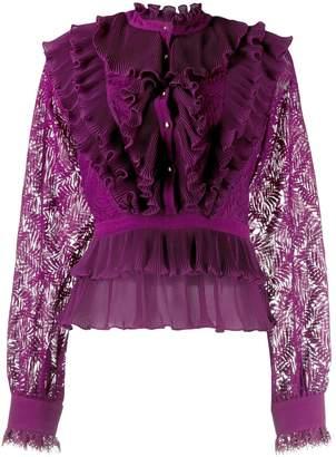 Just Cavalli tiered ruffle blouse