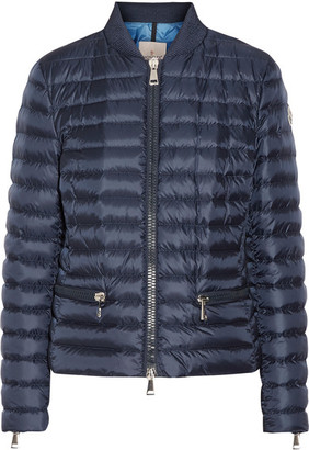 Moncler - Blen Quilted Shell Down Jacket - Navy $995 thestylecure.com