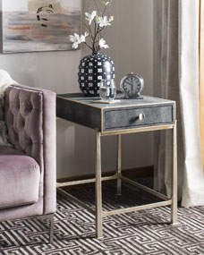 Cleo 1-Drawer Side Table