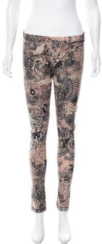 Alexander McQueenAlexander McQueen Lace Print Elasticized Leggings