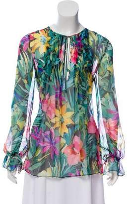 Blumarine Silk Floral Top