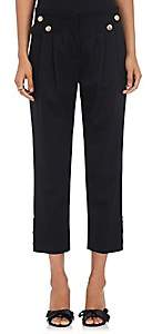 Mayle Maison Women's Vali Stretch Virgin Wool Twill Crop Ankle Pants - Black