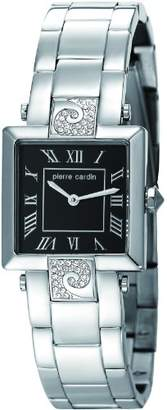 Pierre Cardin Etre Envie Women's Quartz Watch with Black Dial Analogue Display and Silver Stainless Steel Bracelet PC105812F05