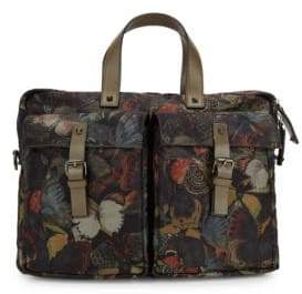 Valentino Butterfly-Print Messenger Bag