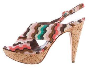 Missoni Patterned Slingback Sandals