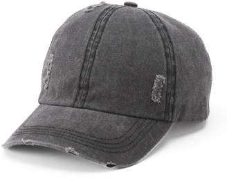 Mudd Women's Distressed Baseball Cap