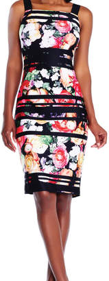 Adrianna Papell Striped Floral Dress