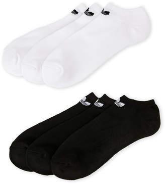 adidas 6 Pairs Moisture-Wicking Low-Rise Socks