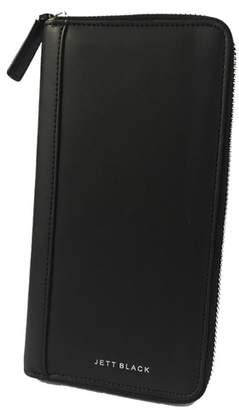 Zip Leather Travel Wallet