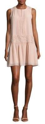 Lace Panel Slip-On Dress