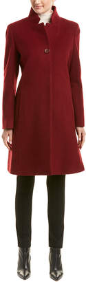 Cinzia Rocca Long Wool & Cashmere-Blend Coat