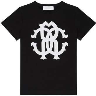 Roberto Cavalli Glitter Logo T-Shirt