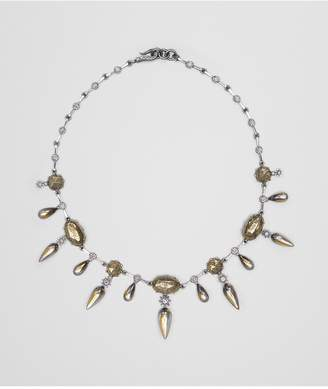 Bottega Veneta Natural Antique Silver Stellular Necklace