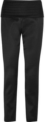 Moschino - Satin Slim-leg Pants - Black $1,195 thestylecure.com