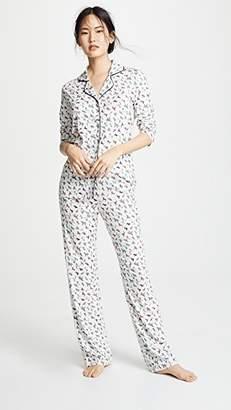 Bop Basics Dog Print Long Sleeve PJ Set