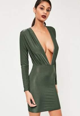 Missguided Slinky Long Sleeve Bodycon Dress