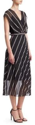 Sandro Simple Cadence Malka Printed Midi Dress