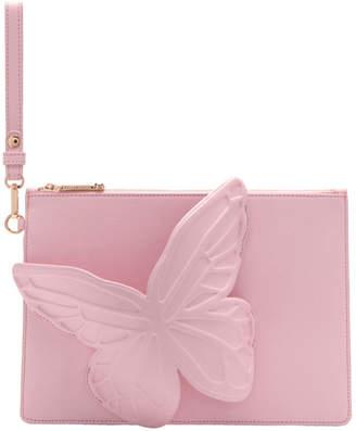 Sophia Webster Pink Butterfly Flossy Pouch
