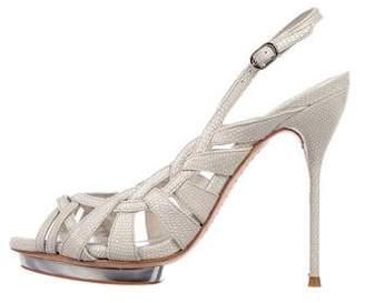 Alice + Olivia Woven Slingback Sandals