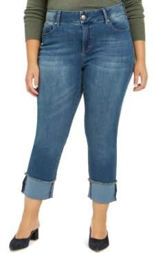 Seven7 Jeans Plus Size Tummyless Cuffed Skimmer Jeans