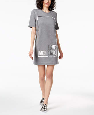 Love Moschino Foil Graphic T-Shirt Dress