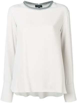 Antonelli contrasting collar blouse