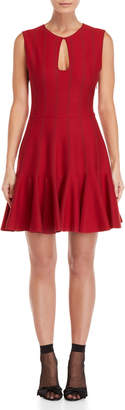 Giambattista Valli Wool Keyhole Fit & Flare Dress