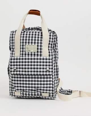 Pull&Bear top handle back pack in gingham print