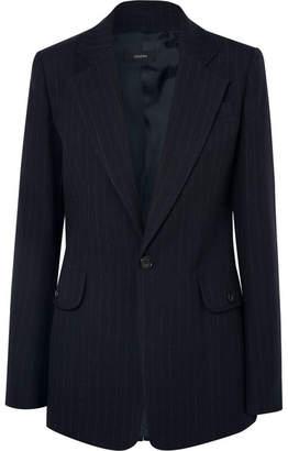 Joseph Lisle Pinstriped Wool Blazer - Navy