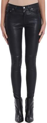 IRO Zaslim Black Leather Pants