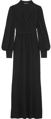 Alexander McQueen - Layered Stretch-jersey Gown - Black $2,545 thestylecure.com