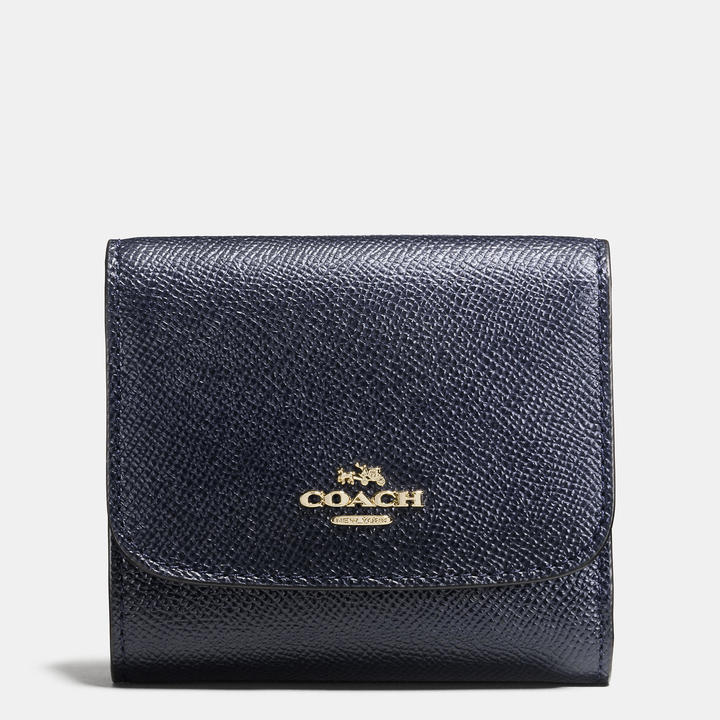 Coach   COACH Coach Small Wallet In Crossgrain Leather