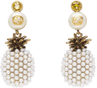 Gucci Gold Pineapple Drop Earrings