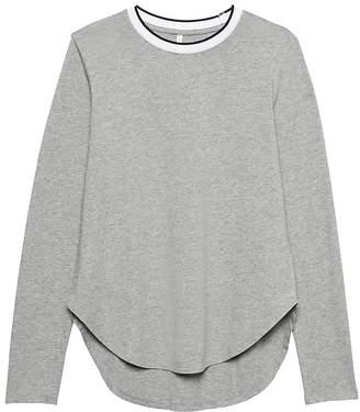 Banana Republic Petite SUPIMA® Cotton Curved-Hem T-Shirt