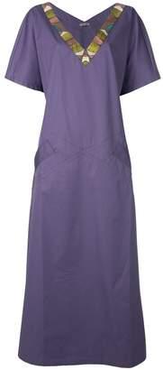 Bottega Veneta v-neck shirt maxi dress